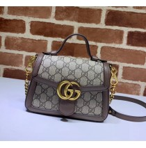 Gucci GG Marmont Mini Top Handle Bag GU547260CA-brown