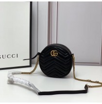 Gucci GG Marmont Mini Round Shoulder Bag GU550154-black