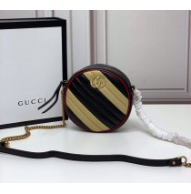 Gucci GG Marmont Mini Round Shoulder Bag GU550154-black-yellow