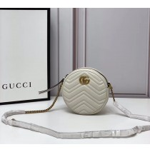Gucci GG Marmont Mini Round Shoulder Bag GU550154-white