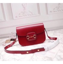 Gucci Leather Horsebit 1955 shoulder bag GU602204L-red