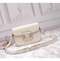 Gucci Leather Horsebit 1955 shoulder bag GU602204L-white