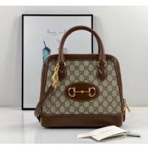 Gucci Horsebit 1955 Small Top Handle Bag GU621220C-brown
