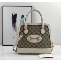Gucci Horsebit 1955 Small Top Handle Bag GU621220C-white