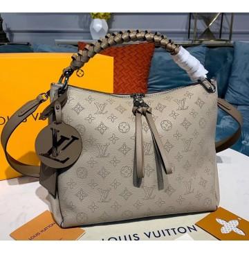 Louis Vuitton Mahina Beaubourg Hobo MM M56073-tan
