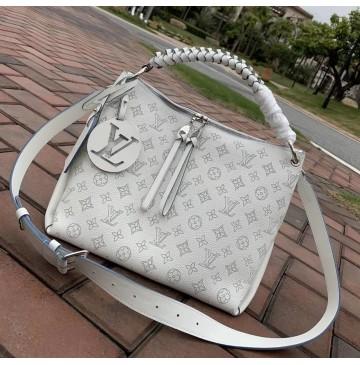 Louis Vuitton Mahina Beaubourg Hobo MM M56073-white