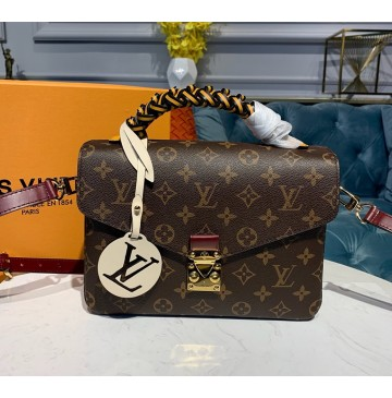 Louis Vuitton Monogram Canvas Pochette Metis with braided handle M43984