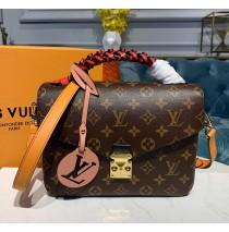 Louis Vuitton Monogram Canvas Pochette Metis with braided handle M44668