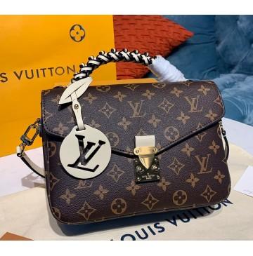 Louis Vuitton Monogram Canvas Pochette Metis with braided handle M45152