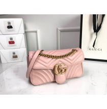 Gucci Small GG Marmont Matelasse Shoulder Bag Pink