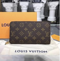 Louis Vuitton Monogram Canvas Double Zipper Wallet M61723