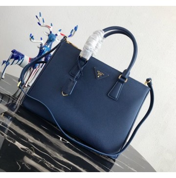 Prada Saffiano Leather Tote PD2274-blue