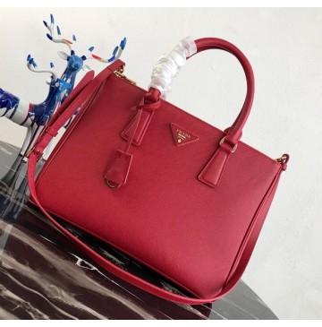 Prada Saffiano Leather Tote PD2274-red