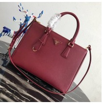 Prada Saffiano Leather Tote PD2274-wine-red