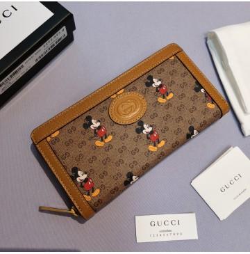 Gucci x Disney zip around wallet GU-W602532