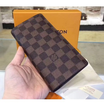Louis Vuitton Damier Ebene Brazza Wallet N62665-brown