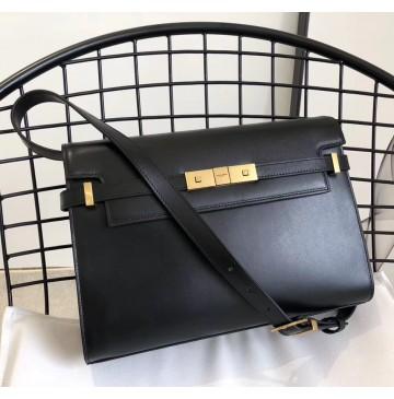 Saint Laurent Manhattan shoulder bag in smooth leather YSL553742-black