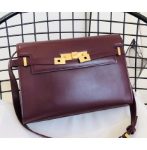 Saint Laurent Manhattan shoulder bag in smooth leather YSL553742-wine
