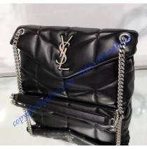 Saint Laurent LOULOU PUFFER Small bag in quilted lambskin YSL577476B-black
