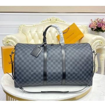 Louis Vuitton Damier Graphite Keepall 55 Bandouliere N41413