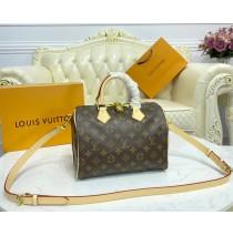 Louis Vuitton Monogram Canvas Speedy 25 with Shoulder Strap M40390