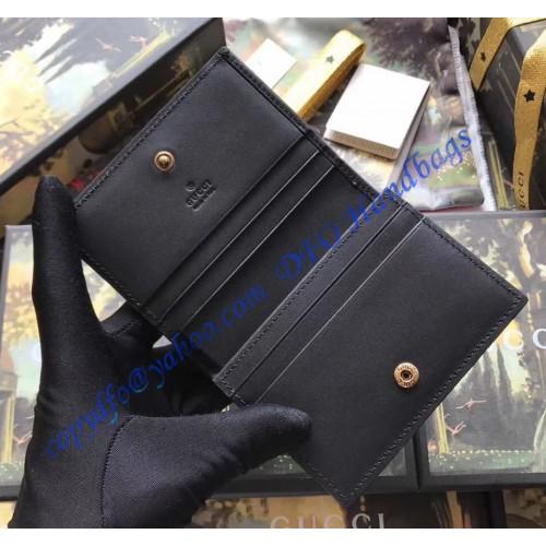 d7d8915f4da Gucci Signature Card Case with Cat Black