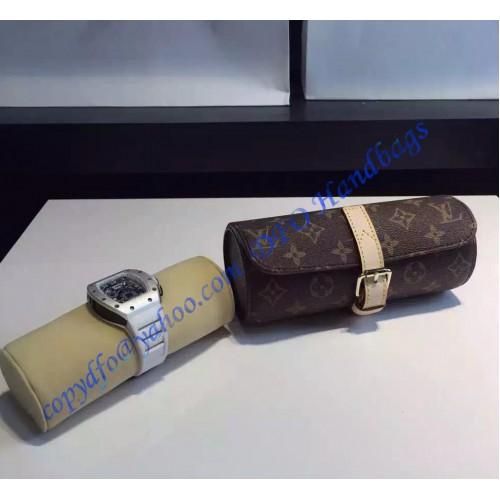 abbb02e9b4d15 Louis Vuitton Monogram Canvas 3 Watch Case M47530 .. ...