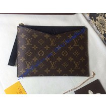 Louis Vuitton Monogram Canvas Pochette Pallas in Black