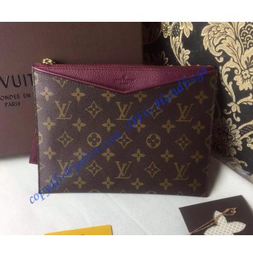 Louis Vuitton Monogram Canvas Pochette Pallas in Purple
