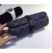 Louis Vuitton Damier Graphite 3 Watch Case