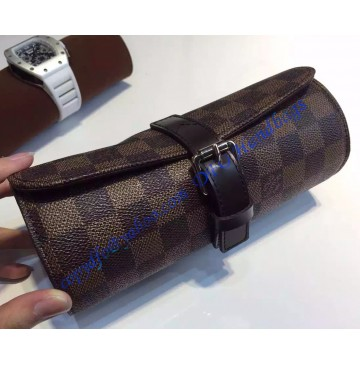 Louis Vuitton Damier Ebene 3 Watch Case