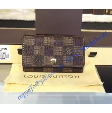 Louis Vuitton Damier Ebene 6 Key Holder