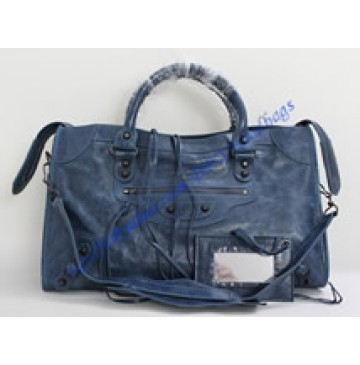Balenciaga Large Le Dix B88008 dark blue