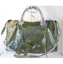 Balenciaga Large Le Dix B88008 dark green