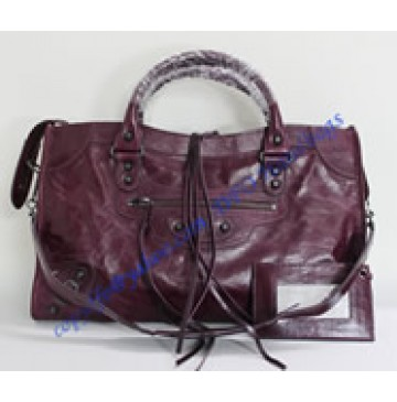 Balenciaga Large Le Dix B88008 dark purple