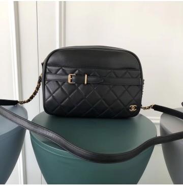 Chanel Large Buckle Camera Case Black
