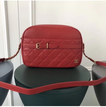 Chanel Large Buckle Camera Case Red