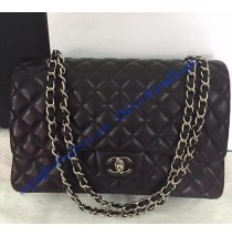 Chanel Small Classic Flap Bag in Black Lambskin with silver hardware