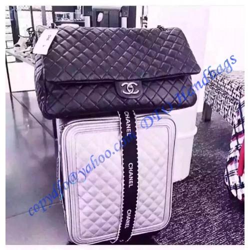 f25b7f24e227 Chanel XXL Classic Flap Bag in black leather – LuxTime DFO Handbags