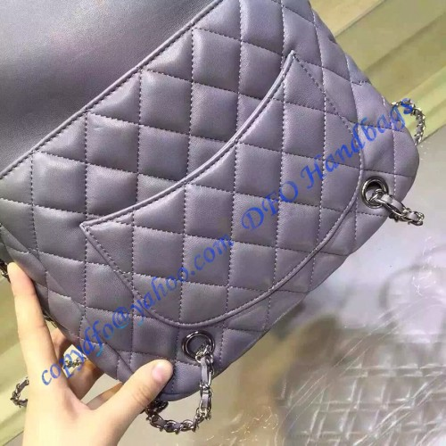 Chanel Quilted Drawstring With Flap Bag In Light Purple