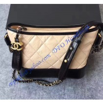 Chanel Gabrielle Small Hobo Bag Beige Black