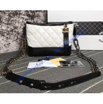 Chanel Gabrielle Small Hobo Bag White Black