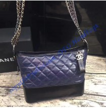 Chanel Gabrielle Hobo Bag Blue Black
