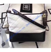 Chanel Gabrielle Hobo Bag White Black