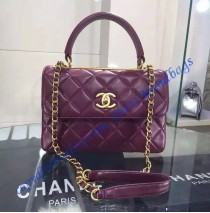 Chanel Trendy CC Flap Bag in Wine Red Lambskin