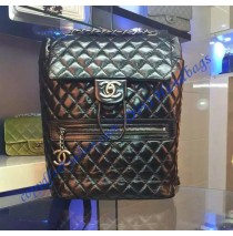 Chanel Medium Classic Mountain Quilted Backpack in Black Calfskin