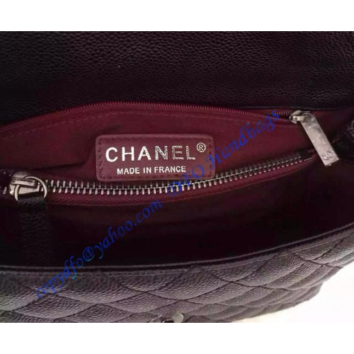 35d79402da86 Chanel Small Coco Handle Bag in Black Grained Calfskin with Black Handle ...