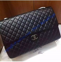 Chanel XXL Classic Flap Bag in black leather