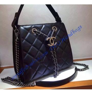 Chanel CC Accordion Bag Black