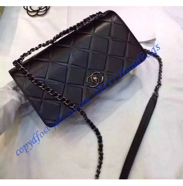 Chanel Medium Propellor Flap Bag Black